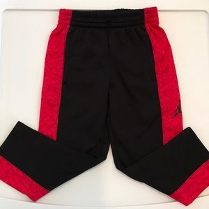Jordan red and black sweat pants